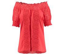 "Damen Bluse ""Romance"" Kurzarm, rot"