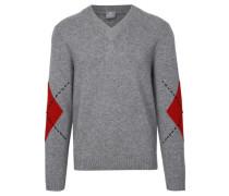 Herren Kaschmir-Pullover, grau