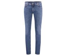 Herren Jeans Blå Konst North mid blue, Blau