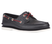 Herren Bootsschuhe Classic 2-Eye Boat Shoe, Schwarz