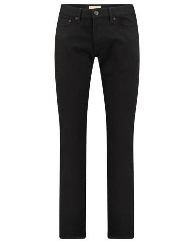 Herren Jeans Straight Fit, schwarz