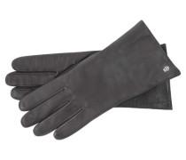 Damen Handschuhe aus Leder, Grau