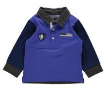 Jungen Baby Poloshirt Langarm, Blau