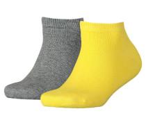 Mädchen und Jungen Sneakersocken Doppelpack, Gelb