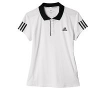 Damen Tennis Poloshirt Club Polo, Weiß