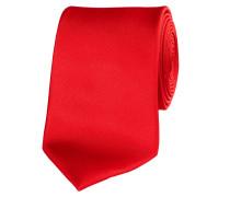 Herren Krawatte aus Seide 7,5 cm breit, koralle