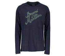 Herren T-Shirt Genua Langarm, Blau