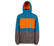 Herren Snowboardjacke / Skijacke Backgrab, Blau