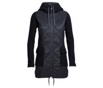 Damen Steppjacke / Themojacke mit Kapuze Merinoloft Departure Jacket, Schwarz