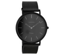 OOZOO: Damen Uhr Ultra Slim Vintage C7727 schwarz, schwarz