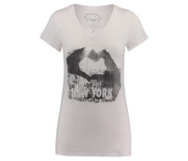 Damen T-Shirt Ny Loves Me, Weiß