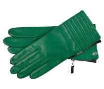 Damen Lederhandschuhe, Grün