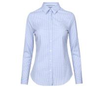 Damen Hemdbluse Langarm, Blau