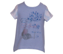 Mädchen Baby T-Shirt Pusteblume in blue striped, Blau