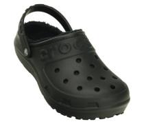 Herren Crocs Hilo lined Clogs black/black, Schwarz
