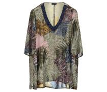 Damen Bluse 3/4 Arme - Plus Size, Mehrfarbig
