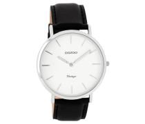 OOZOO: Damen Uhr Ultra Slim Vintage C7759, schwarz
