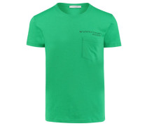 Herren T-Shirt, grün/weiss