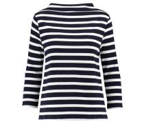Damen Sweatshirt Dreiviertelarm, Blau