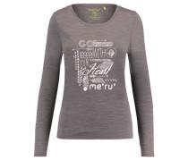 Damen Shirt Glomma Langarm, Grau