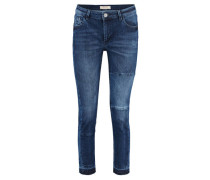 Damen Jeans Sumner Patch schmaler Schnitt, Blau