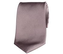 Herren Krawatte aus Seide 7,5 cm breit, taupe
