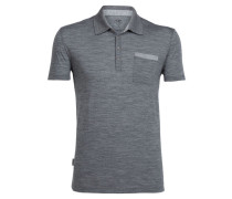 Herren Funktionspolo Quattro II Short Sleeve Polo, Grau