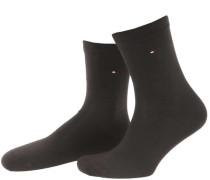 Damen Socke Classic im 2er-Pack, Braun