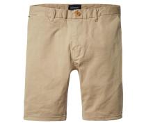Herren Chino-Shorts Slim Fit, sand