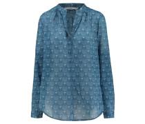 Damen Bluse Leona Langarm, Blau