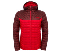 Herrren Outdoor-Steppjacke / Thermojacke mit Kapuze Thermoball Hoodie M, Rot