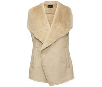 Vila Clothes: Damen Weste Visheepa, camel