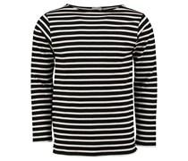 Saint Laurent: Herren Langarm Shirt, schwarz