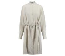 Damen Seiden-Blusenkleid, Braun