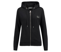 Damen Sweatjacke Who Knows, Schwarz