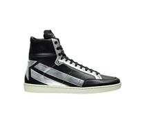 Saint Laurent: Herren Sneakers, schwarz