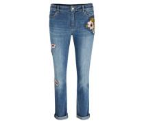 Damen Jeans Comfort Straight Fit, blue