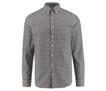 "Herren Freizeithemd ""The Oxford Gingham"" Regular Fit Langarm, schwarz"