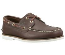Herren Slipper / Bootsschuhe Icon Classic 2-Eye dark brown smooth, Braun