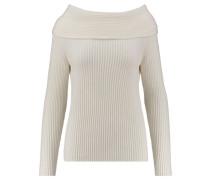 Damen Kaschmir-Pullover, weiss