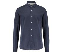 Herren Hemd Langarm, blau