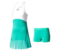Damen Tenniskleid Roland Garros On Court Dress, Grün