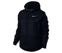 Damen Laufjacke Impossibly Light Hooded Running Jacket, Schwarz