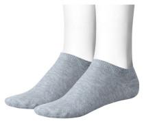 Mädchen und Jungen Sneakersocken Doppelpack, Grau