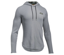 Herren Sweatshirt UA Stephen Curry SC30 Thermal Hood Langarm, Grau