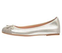 Damen Ballerinas Auto, Gold