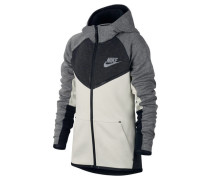 Boys Sweatjacke mit Kapuze Sportswear Tech Fleece Windrunner Hoodie, Grau