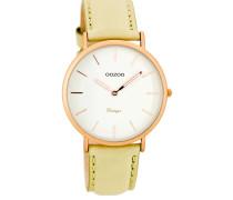 OOZOO: Damen Uhr Ultra Slim Vintage C7743, sand