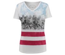 Damen T-Shirt Stars and Stripes, Weiß