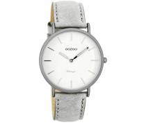 OOZOO: Damen Uhr Ultra Slim Vintage C7745, silber